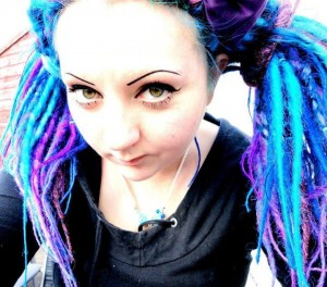 Blue Purple Synthetic Dreads