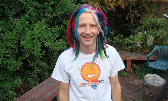 rainbow locks colored to raise funds for invisible