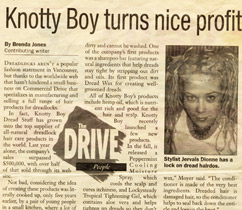 Knotty Boy in Vancouver Courier