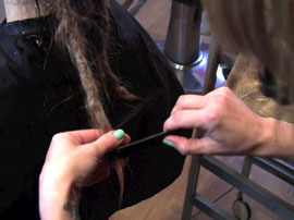 Dreadlock Removal Combing