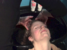 Dreadlock Removal Rinsing
