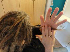 Palm Rolling Dreadlocks