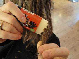 Waxing Dreadlocks