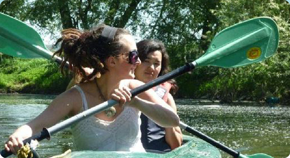 Dreadlocks in a Kayak