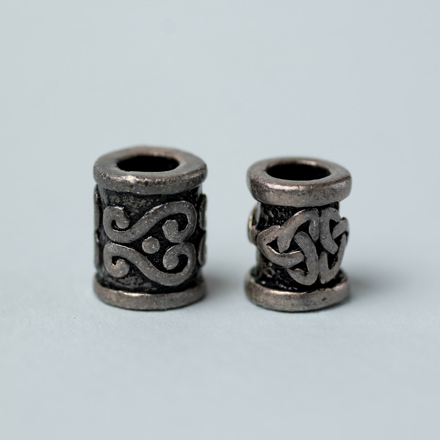 pewter dreadlock beads with celtic design