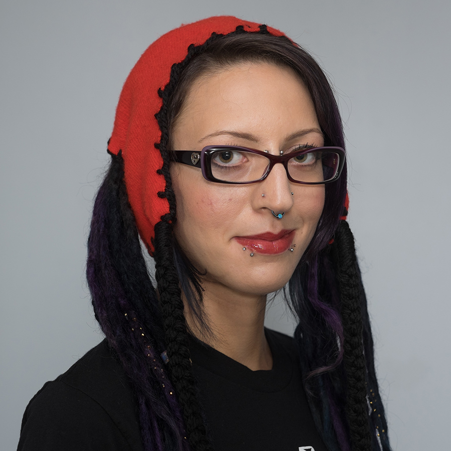 dreadlock pigtail hat red with black stitching