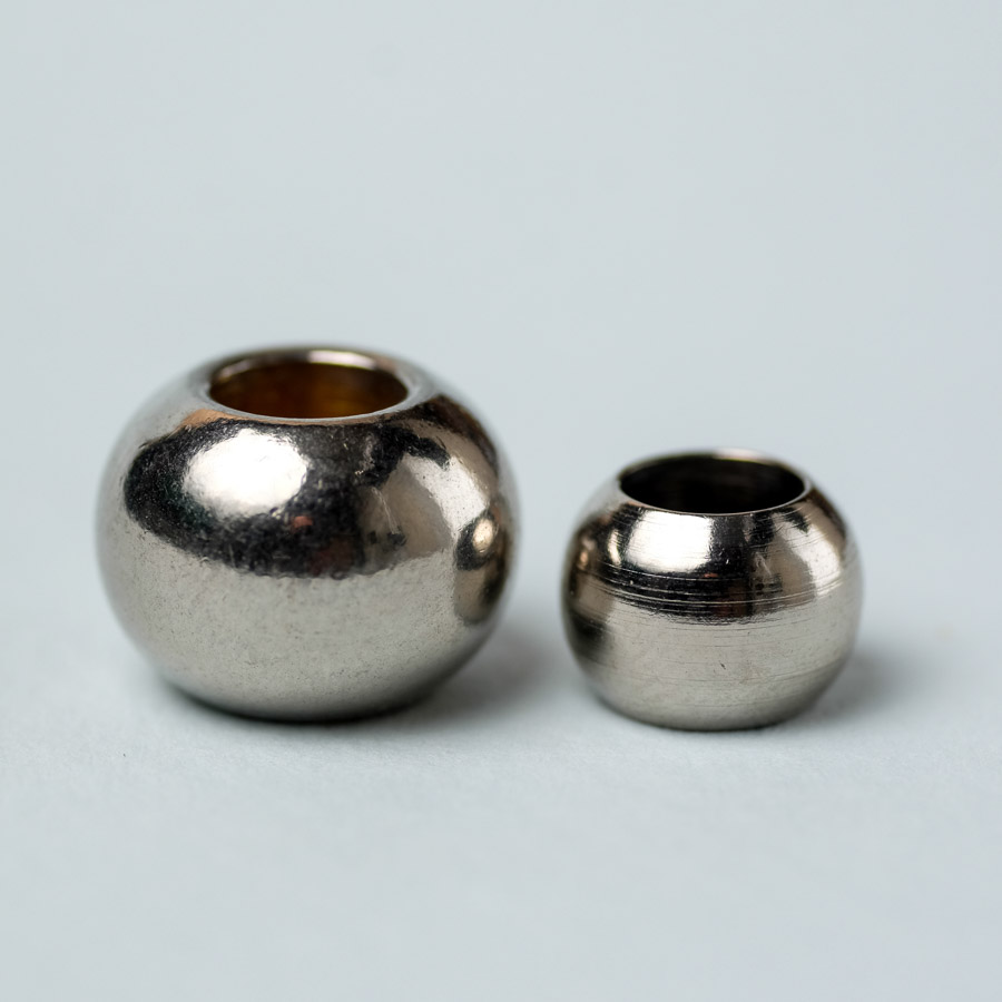 dreadlock beads nickel plated brass