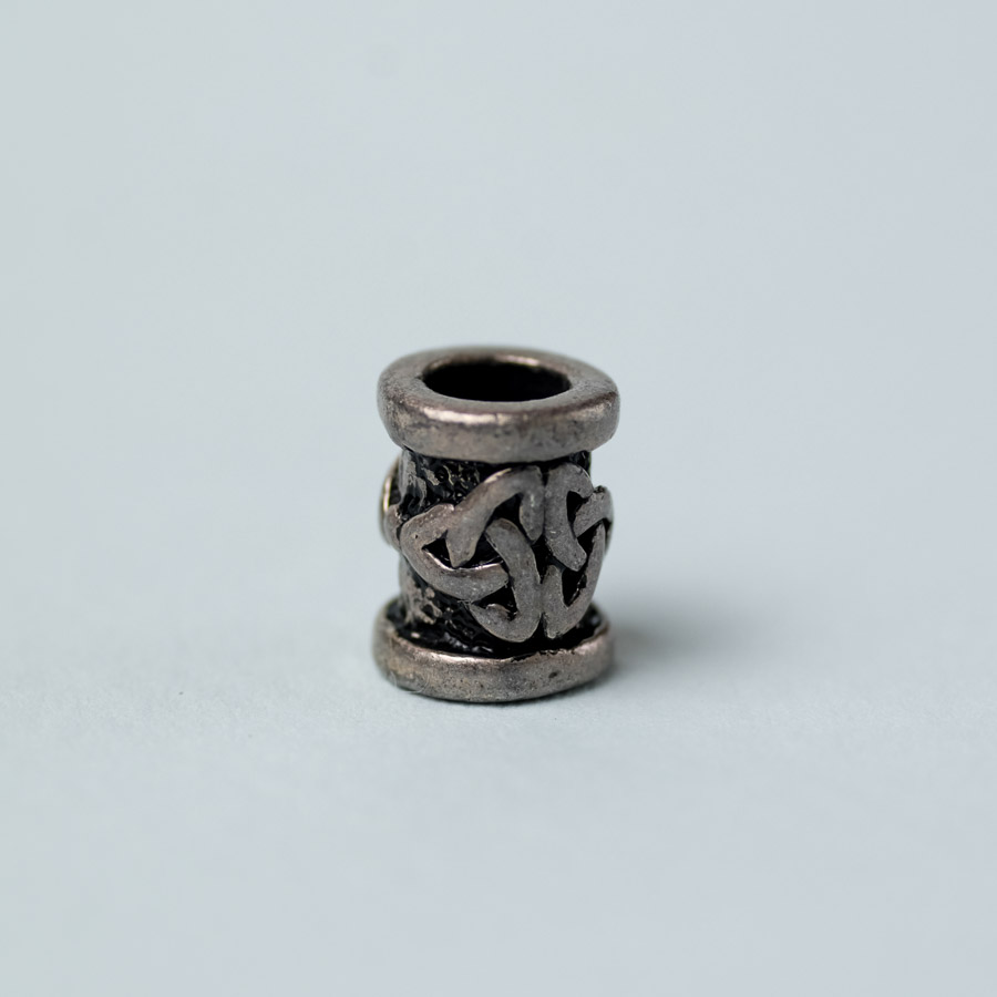 pewter dreadlock bead with celtic knot