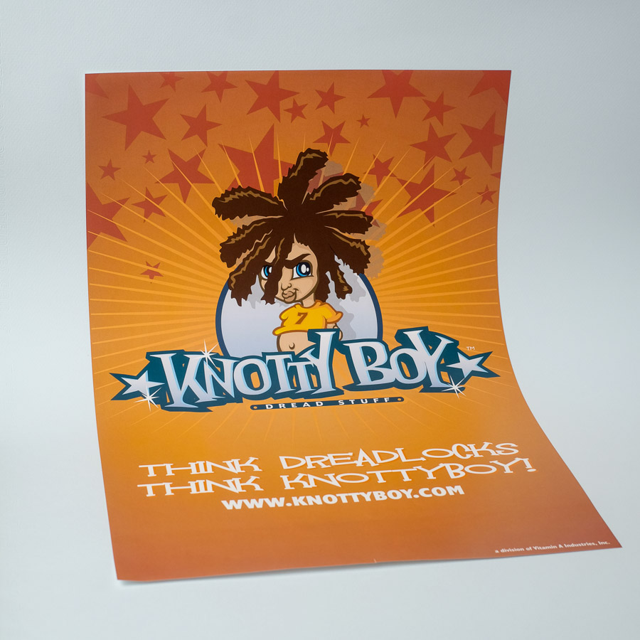 knotty boy poster 11 by 17 inches or 28 by 43 centimetres