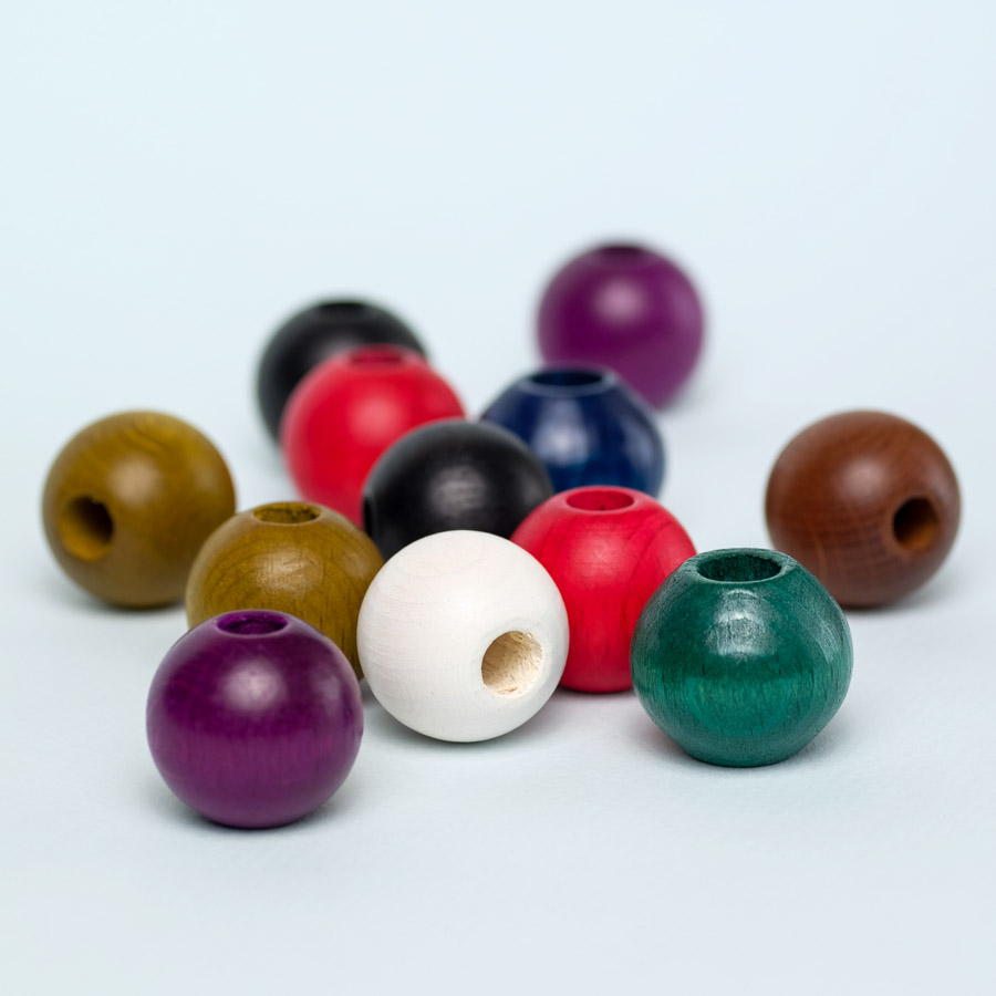 12 pack wooden beads for dreadlock decoration