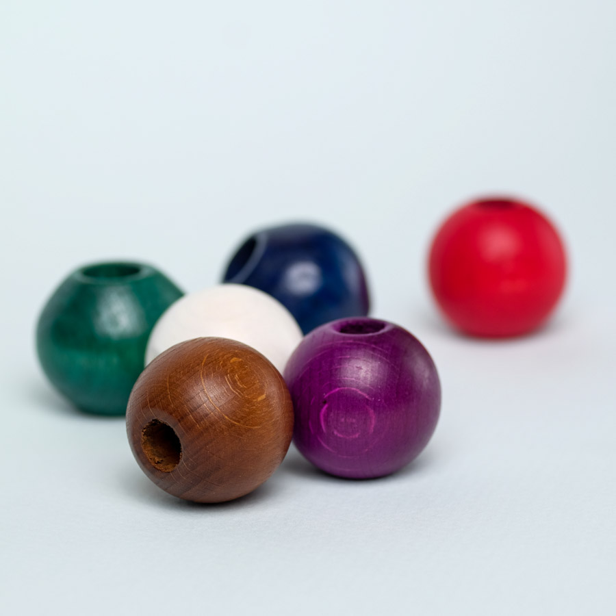 6 pack wooden beads for dreadlock decoration