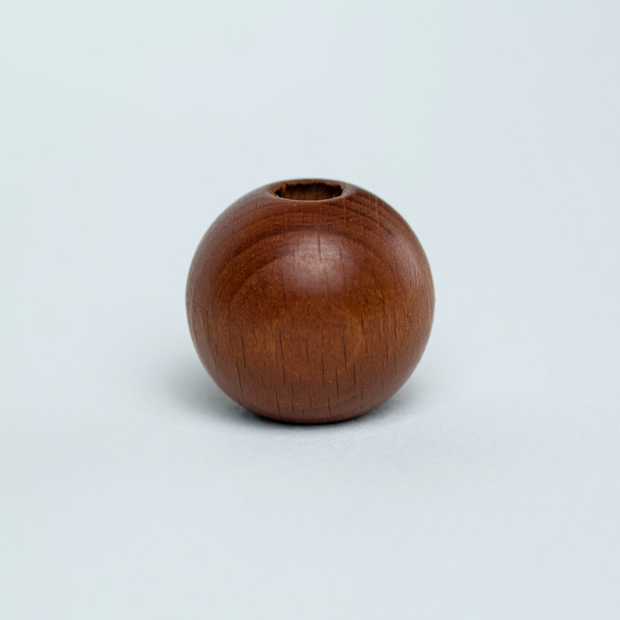 brown wooden bead for dreadlock decoration