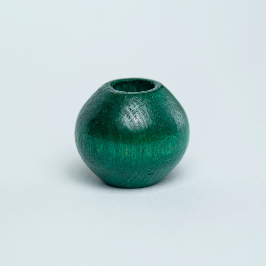 green wooden bead for dreadlock decoration
