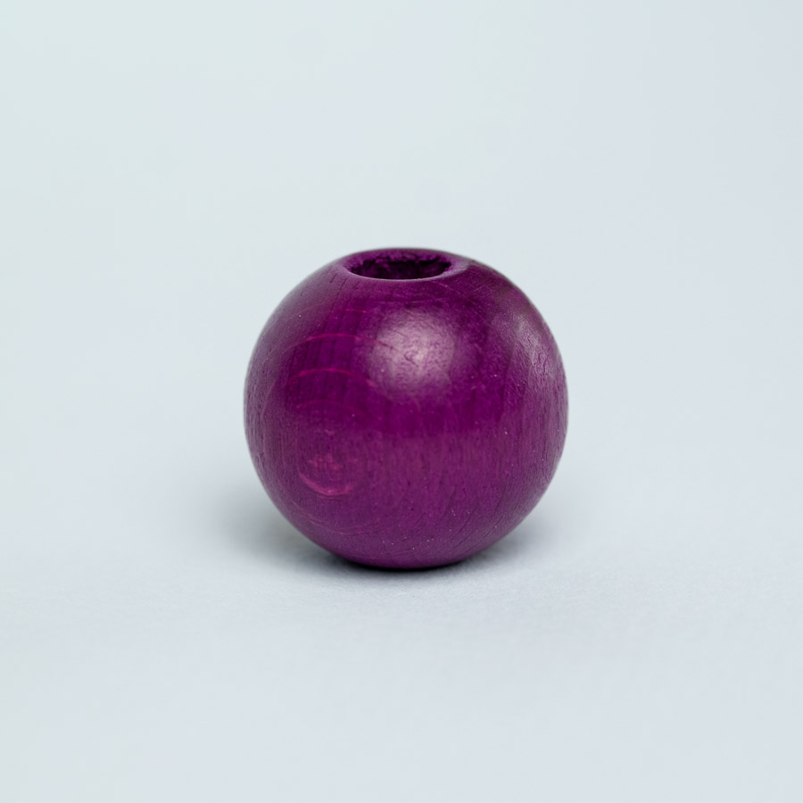 purple wooden bead for dreadlock decoration