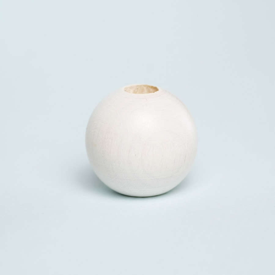 white wooden bead for dreadlock decoration