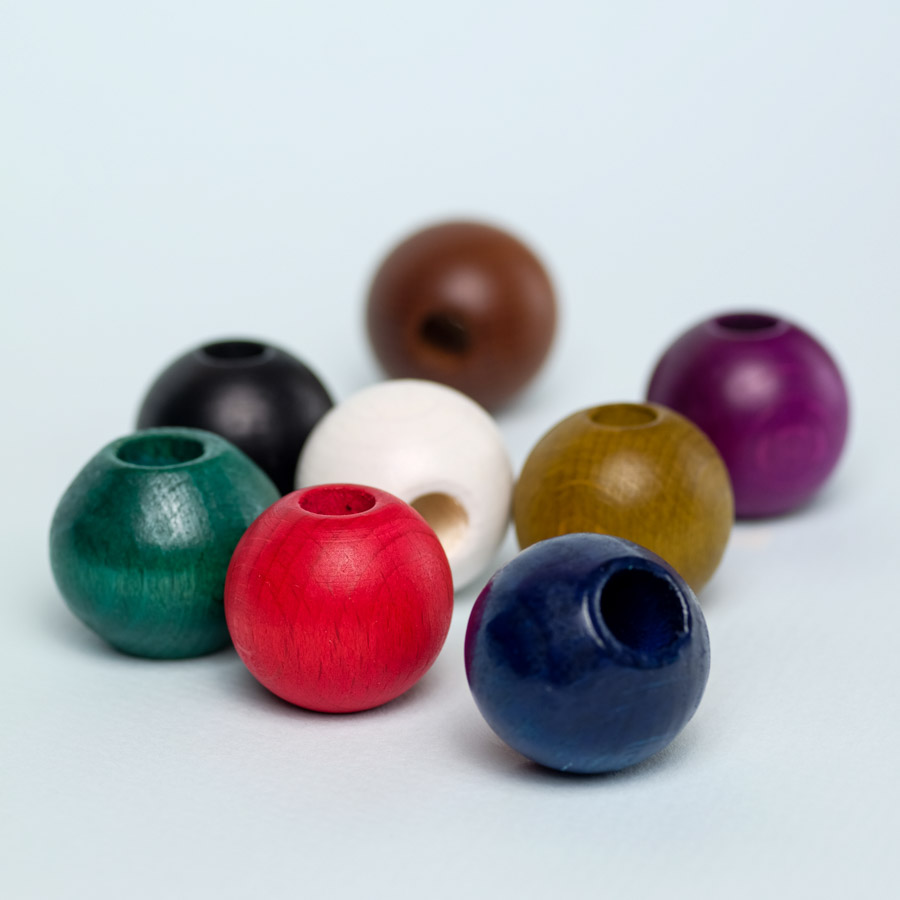 round wooden beads for dreadlock decoration