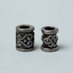 pewter beads with celtic design