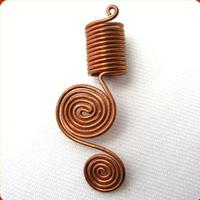 Double Swirl Copper Coil