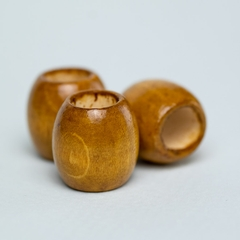 Oval Wooden Bead 3-pack