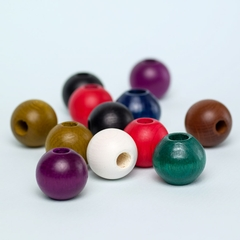 Round Wooden Beads 12-pack
