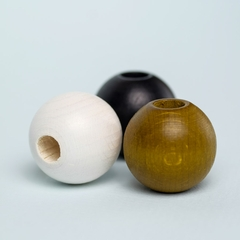 Round Wooden Beads 3-pack