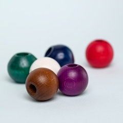 Round Wooden Bead 6-pack