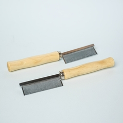 Metal Comb with Wood Handle 2-pack