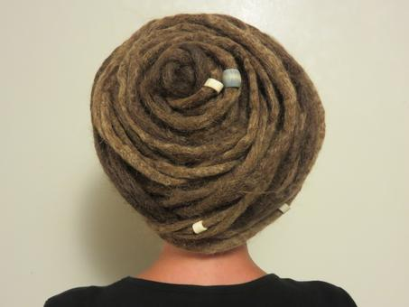 the legendary 'Cinnamon Roll' updo is always a crowd pleaser.